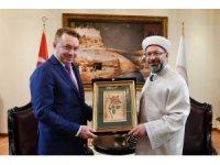 Diyanet İşleri Başkanı Erbaş, Avustralya Ankara Büyükelçisi Brown'u kabul etti