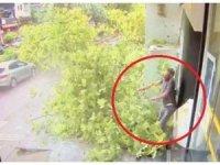 Fırtınada asırlık çınar ağacının yeni devrilme görüntüleri ortaya çıktı