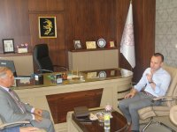 MGSÜ Rektörü Parlak'tan Milli Eğitim Müdürü Tekin'e ziyaret