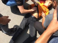 Ağrı'da çocukların bisiklet yarışı kazayla bitti