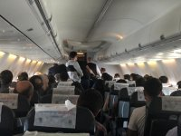 Ağrı uçağında korku dolu anlar