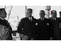 """Bakan Ersoy, Atatürk'ün yayınlanmamış görüntüsünü """"10 Kasım'' mesajında paylaştı"""
