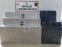 Ağrı'da 26.400 paket kaçak sigara ele geçirildi