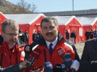 Sağlık Bakanı Koca, Gürbulak Sınır Kapısı'nda kurulan Sahra Hastanesi'ni gezdi