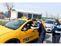 Esenyurt zabıtasından ticari taksilere tek-çift plaka denetimi