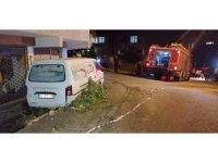 Trafik kazasında korkutan kimyasal madde sızıntısı