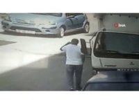 Cep telefonu hırsızlığı güvenlik kamerasına yakalandı