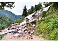 Trabzon'da heyelan nedeniyle kapanan mahalle yolları ulaşıma açıldı