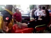 Hamile kadına araba çarptı