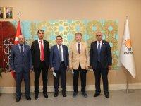 Ağrı'da Ak Parti'ye geçen Belediye Başkanları Özhaseki'yi ziyaret etti