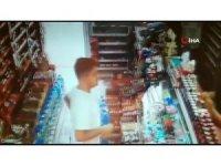 Tekel bayide uyuşturucu satışı güvenlik kamerasında