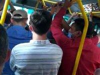 Tıklım tıklım minibüs yolculukları tepki çekiyor