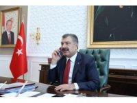 Bakan Koca Azeri mevkidaşı ile görüştü