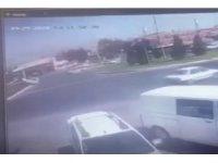 Kahramanmaraş'ta trafik kazası kamerada