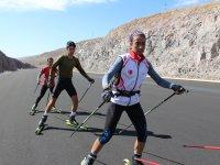 Ağrılı milli sporcu Seher Kaçmaz olimpiyatlara asfalt yolda hazırlanıyor