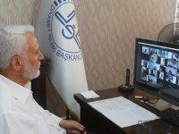 Müftü Topçu, Video Konferans Yöntemiyle Gençlerle Bir Araya Geldi