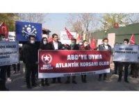 Türk gemisine korsan baskın Almanya Büyükelçiliği önünde protesto edildi
