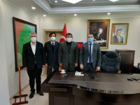 ASKF'den Diyadin Kaymakamı Alper Balcı'ya hayırlı olsun ziyareti