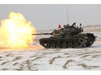 Kara Kuvvetleri Komutanlığına ait tank birlikleri muharebe atışı gerçekleştirildi