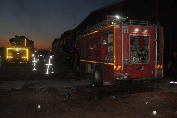 Elazığ'da fabrika yangını söndürüldü