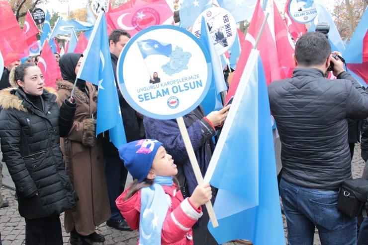Çin zulmü Ankara'da protesto edildi