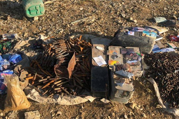 Irak'ın kuzeyinde PKK'ya ait mühimmat ele geçirildi