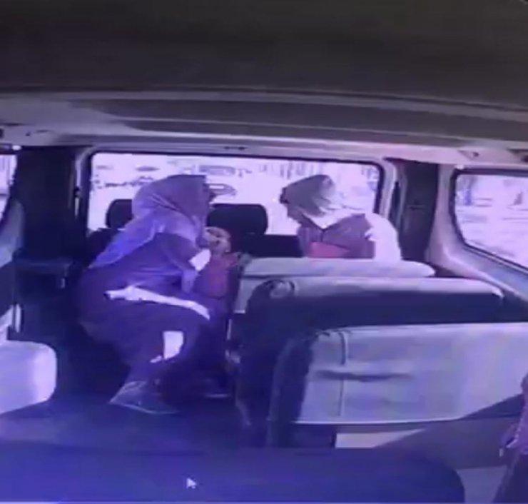 Boğazına şeker kaçan çocuğu şoför hastaneye yetiştirdi