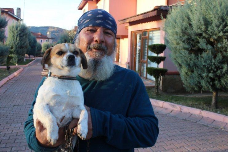 Boğulma tehlikesi geçiren köpeği kalp masajı kurtardı