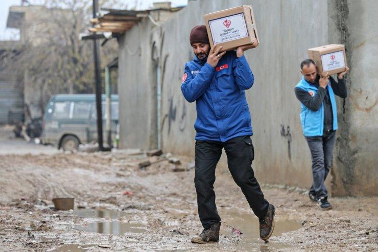 TDV terörden arındırılan bölgelere yardım ulaştırdı