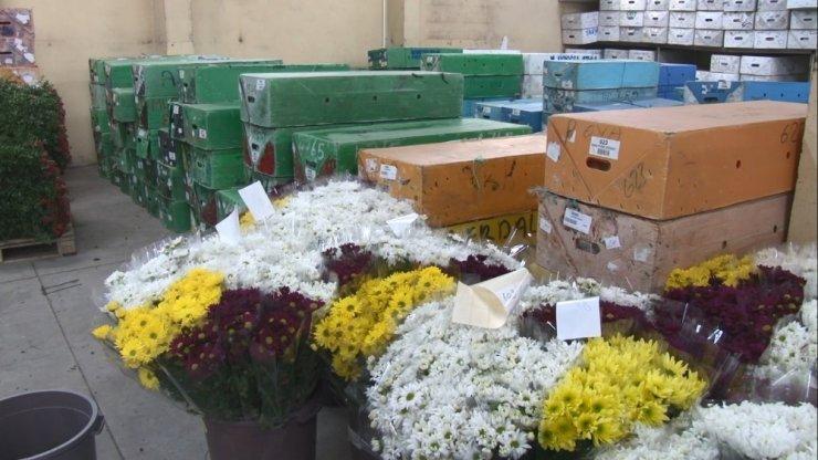 Yılbaşı öncesi İstanbul'un çiçek borsasında yoğunluk arttı