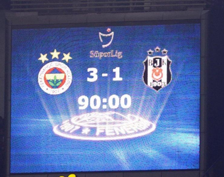 Süper Lig: Fenerbahçe: 3 - Beşiktaş: 1 (Maç sonucu)
