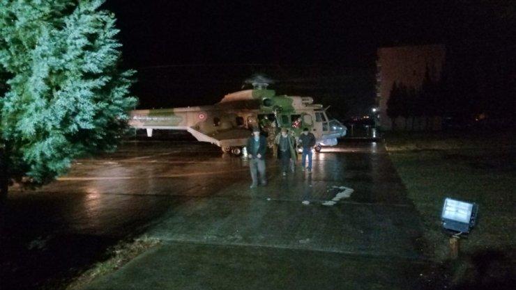 11 saat mahsur kaldılar, helikopterle kurtarıldılar