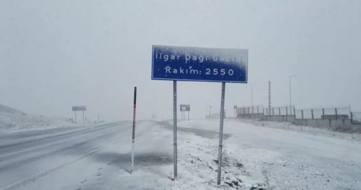 Ardahan'a mevsimin ilk karı yağdı