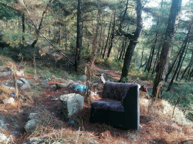 Tam bir çevre katliamı: Ormanı çöplüğe çevirmişler