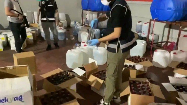 Gaziantep'te sahte içki operasyonu: 13 gözaltı